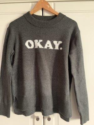 Even & Odd Knitted Sweater dark grey