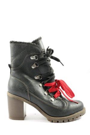 Even & Odd Reißverschluss-Stiefeletten schwarz Casual-Look