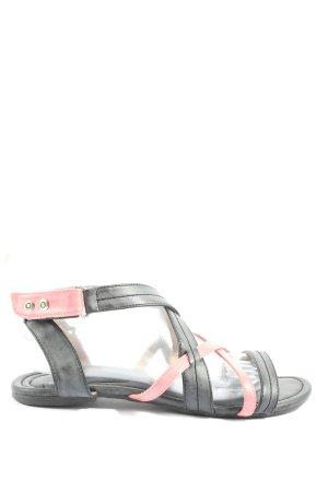 Even & Odd Riemchen-Sandalen schwarz-pink Casual-Look