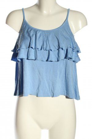 Even & Odd Frill Top blue casual look