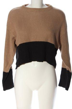 Even & Odd Crewneck Sweater natural white-black casual look