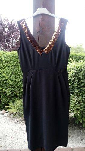 Even & Odd S 36 Kleid schwarz mit Paillettendetails Kupfer Bronze Even&Odd