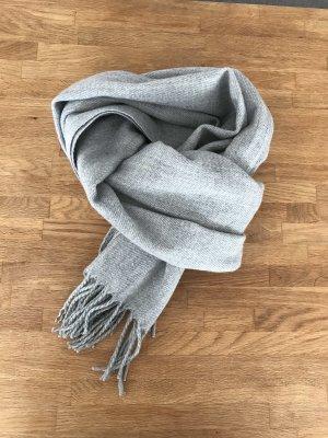 Even & Odd Sciarpa di lana grigio chiaro