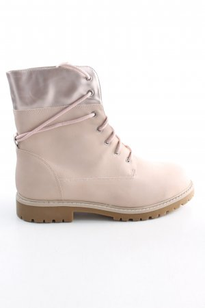 Even & Odd Botas con cordones rosa look casual