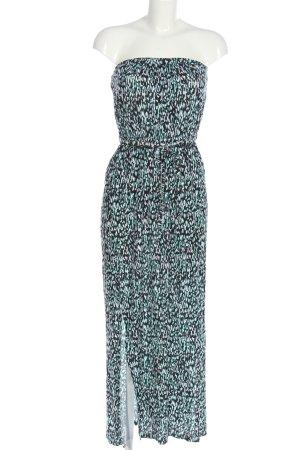 Even & Odd schulterfreies Kleid mehrfarbig Casual-Look