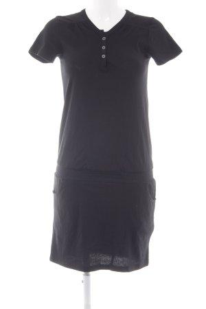 Even & Odd Shirtkleid schwarz sportlicher Stil
