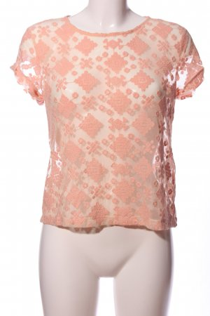 Even & Odd Lace Blouse nude graphic pattern casual look