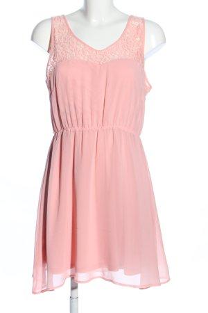 Even & Odd Vestido de encaje rosa elegante