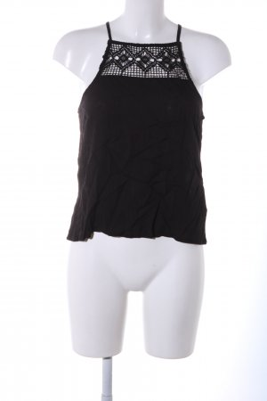 Even & Odd Lace Top black graphic pattern casual look
