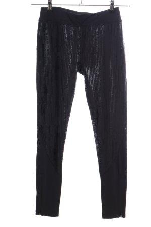 Even & Odd Pantalone da ginnastica nero motivo astratto stile casual