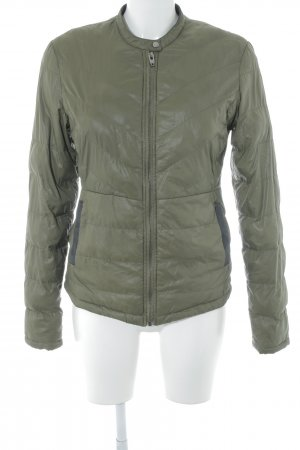 Even & Odd Quilted Jacket olive green casual look