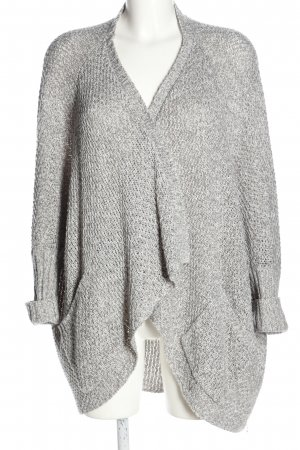 Even & Odd Strick Cardigan hellgrau Zopfmuster Casual-Look
