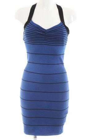 Even & Odd Strickkleid blau-schwarz Streifenmuster Casual-Look
