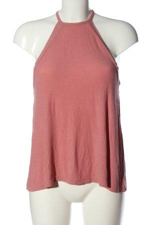 Even & Odd Top lavorato a maglia rosa stile casual