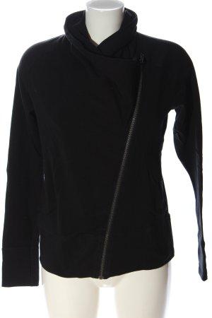 Even & Odd Cache-cœur en tricot noir style décontracté