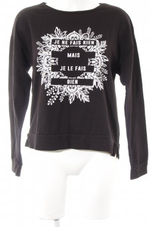 Even & Odd Sweatshirt schwarz Motivdruck Casual-Look
