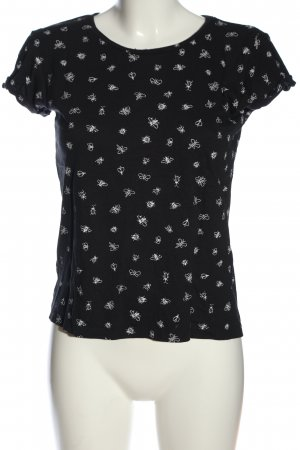 Even & Odd T-Shirt black-white abstract pattern casual look