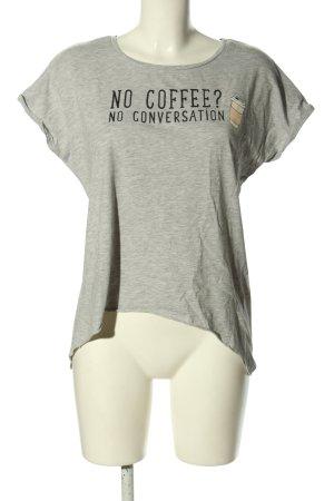 Even & Odd T-Shirt hellgrau-schwarz meliert Casual-Look