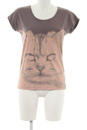 Even & Odd T-Shirt braun-nude Motivdruck Casual-Look