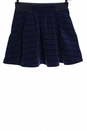 Even & Odd Circle Skirt blue-black striped pattern elegant