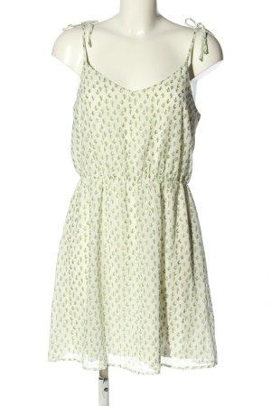 Even & Odd Trägerkleid creme-grün Allover-Druck Casual-Look