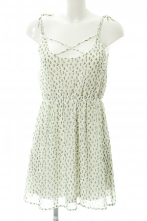 Even & Odd Trägerkleid weiß-grasgrün abstraktes Muster