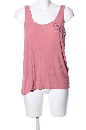 Even & Odd Trägertop pink Schriftzug gedruckt Casual-Look