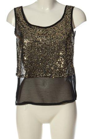 Even & Odd Blusa trasparente nero con glitter