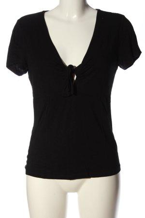 Even & Odd V-Ausschnitt-Shirt schwarz Casual-Look