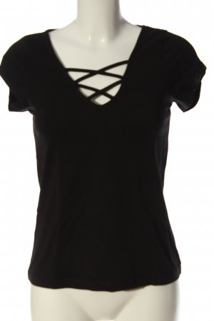 Even & Odd V-Neck Shirt black casual look