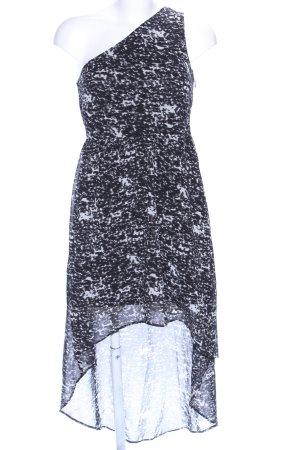 Even & Odd Robe bas asymétrique noir-blanc motif abstrait élégant