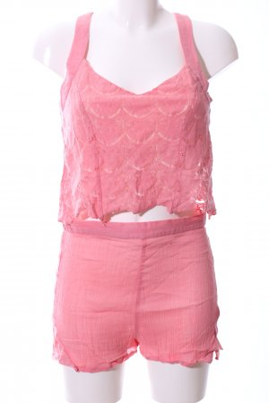 Even & Odd Web Twin Set pink Casual-Look