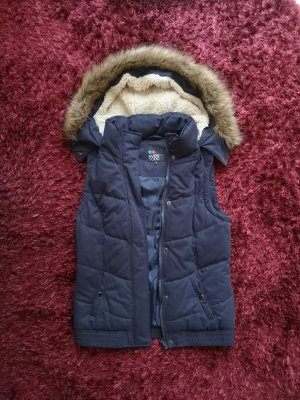 Even & Odd Hooded Vest dark blue