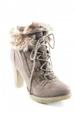 Even & Odd Winter-Stiefeletten hellbraun-graubraun Casual-Look