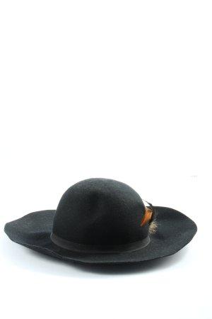Even & Odd Wollen hoed zwart elegant
