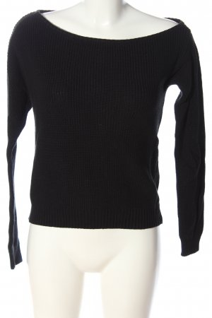 Even & Odd Cable Sweater black cable stitch casual look