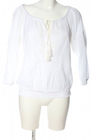 Event Langarm-Bluse weiß Casual-Look