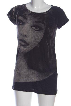 Event T-Shirt schwarz Motivdruck Casual-Look