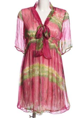 Ever Pretty Cocktailkleid pink-grün abstraktes Muster Elegant