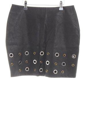 Everis Kunstlederrock schwarz extravaganter Stil