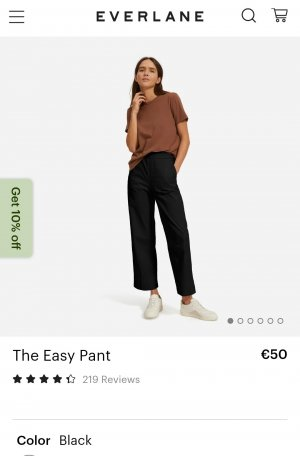 Everlane Easy Pant Chino Culotte