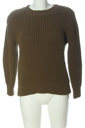 Everlane Coarse Knitted Sweater brown cable stitch casual look