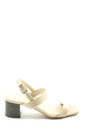 Everlane Platform High-Heeled Sandal natural white allover print casual look