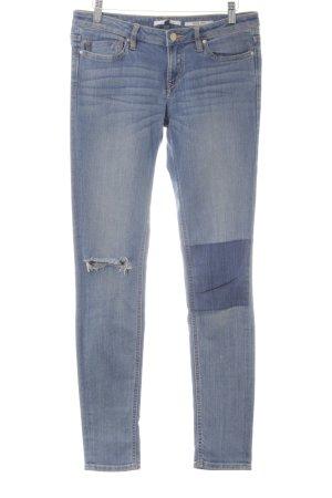 every.day.counts Skinny Jeans blau Logo-Applikation aus Leder