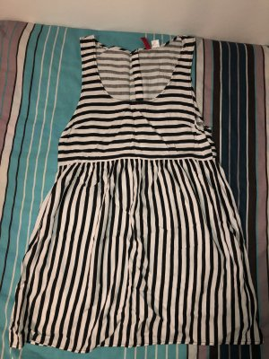 H&M Divided Vestido playero blanco-negro