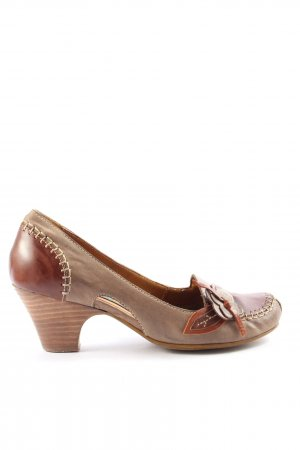 Everybody High-Front Pumps brown-bronze-colored striped pattern casual look