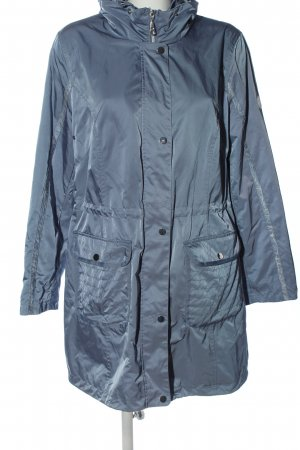 EverYou Abrigo con capucha azul look casual