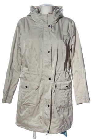 EverYou Abrigo con capucha gris claro look casual