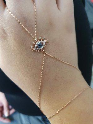 Juwelier Braccialetto in argento color oro rosa-blu