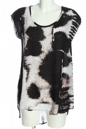 Evil Twin Sleeveless Blouse black-white abstract pattern casual look